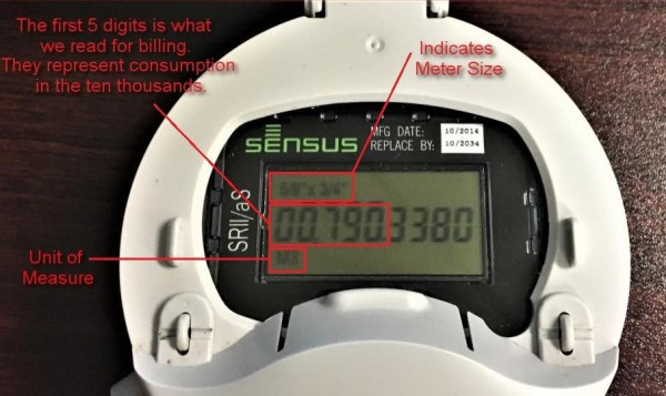 Newer Model Sensus Water Meter