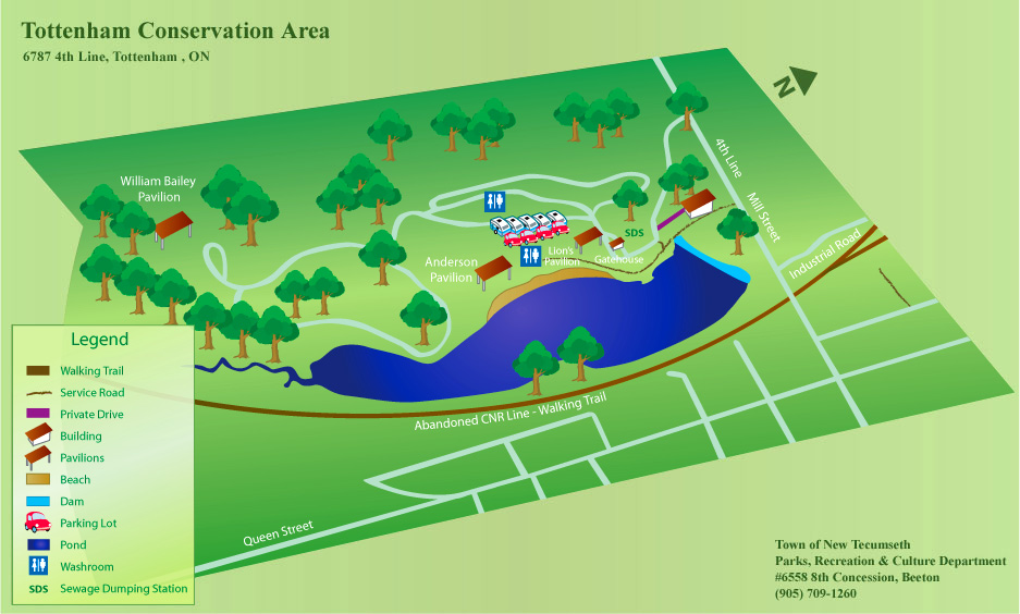 Map of the Tottenham Conservation Area