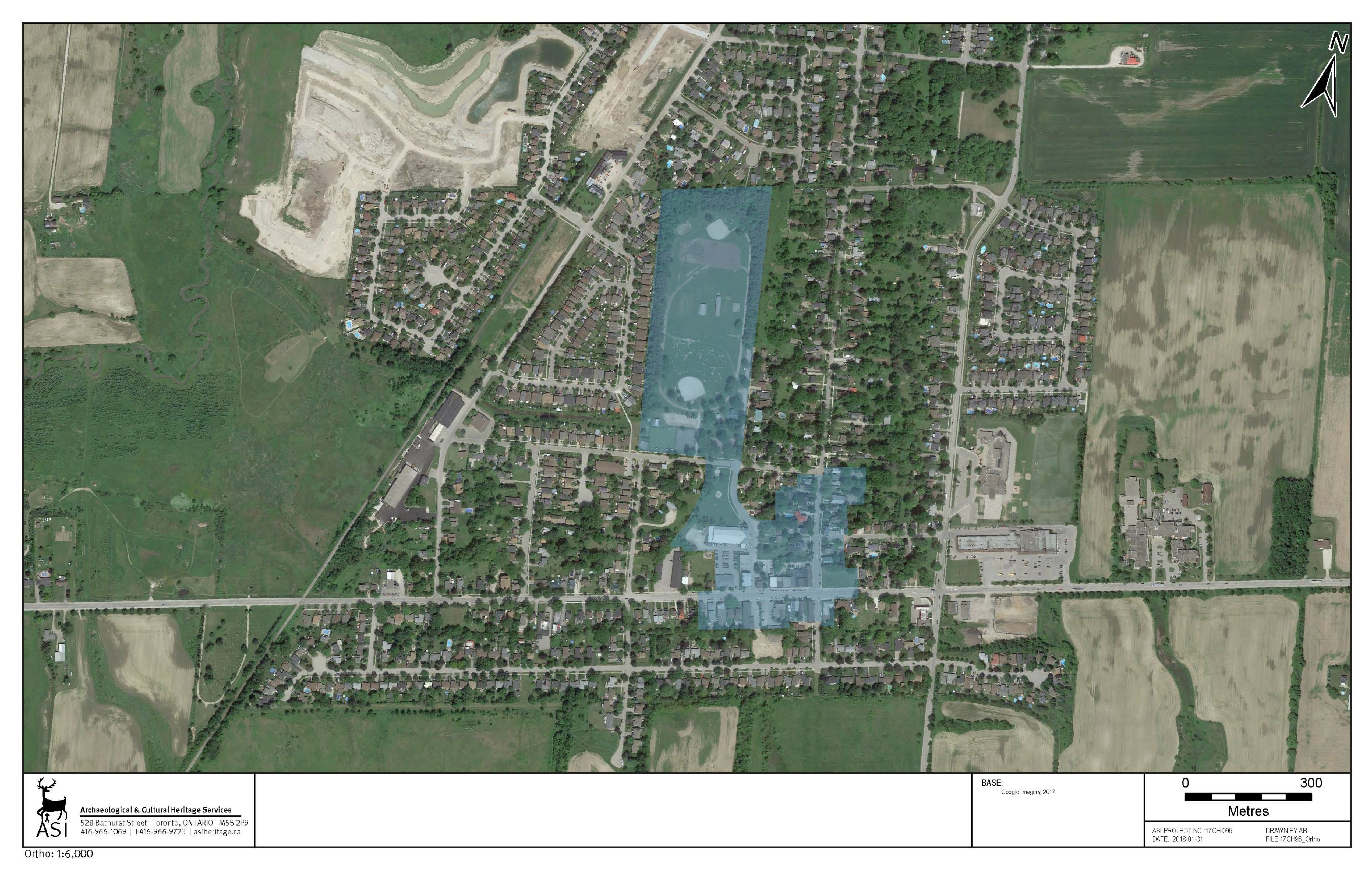 satellite picture of Boundary Analysis For Beeton Heritage conservation district