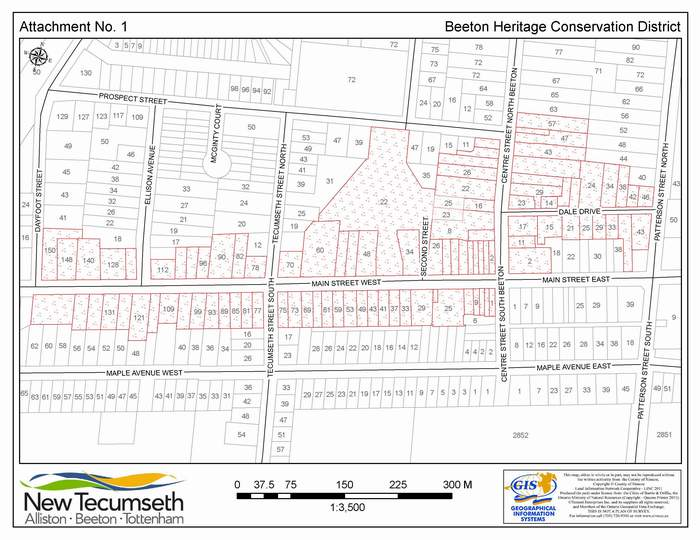 map of Boundary Analysis For Beeton Heritage conservation district